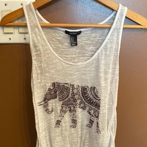 Size Small Forever 21 Elephant Tank Top